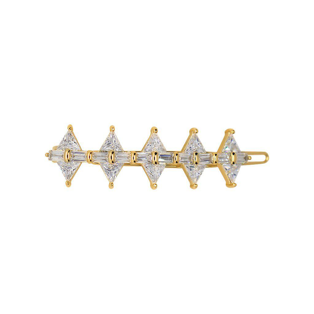 PERO DIAMOND CRYSTAL GOLD HAIR CLIP