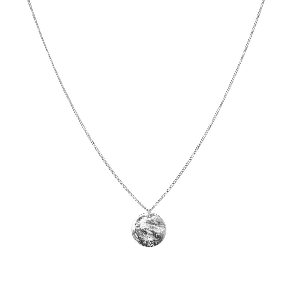 PERSYS SILVER DISC DROP PENDANT