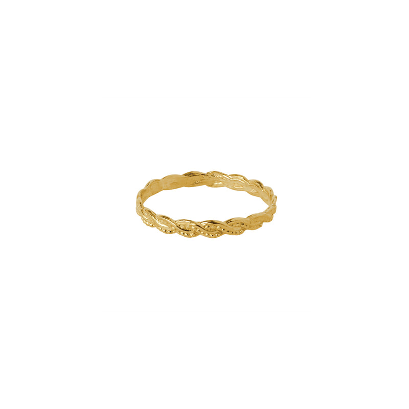 PERYN WOVEN GOLD FILLED RING