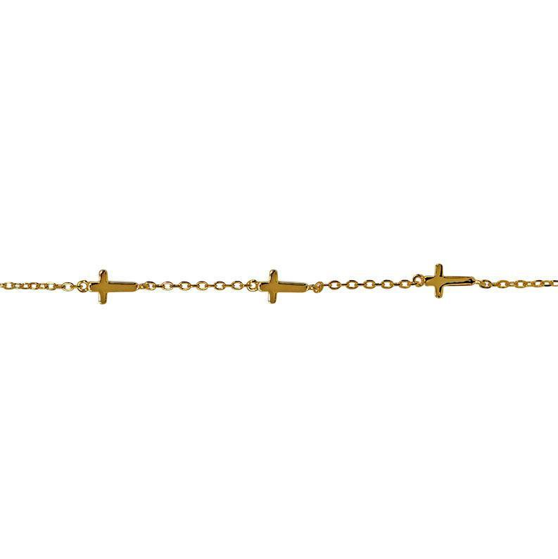 PLAIN CROSS GOLD BRACELET