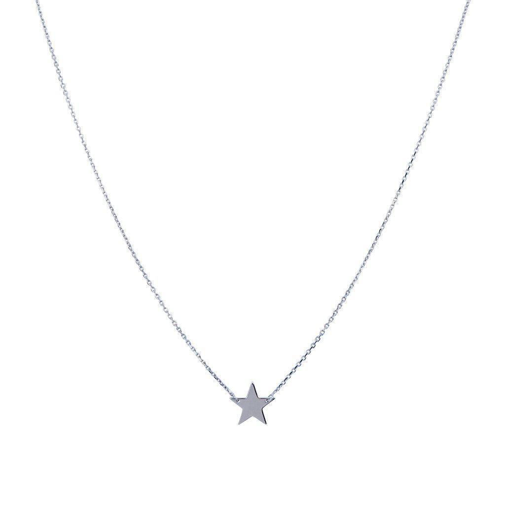 PLAIN SINGLE STAR SILVER NECKLACE