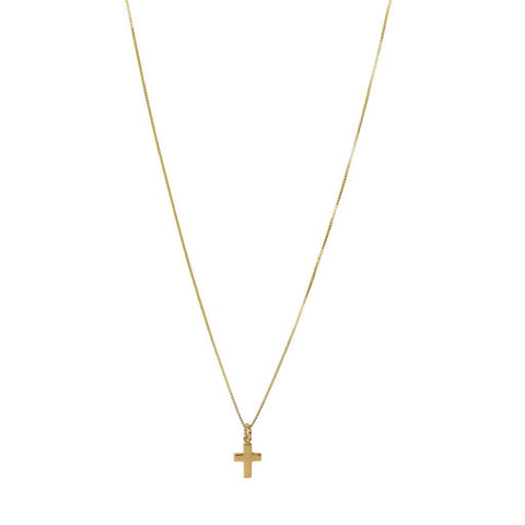 CROSS STERLING SILVER GOLD PLATED PENDANT