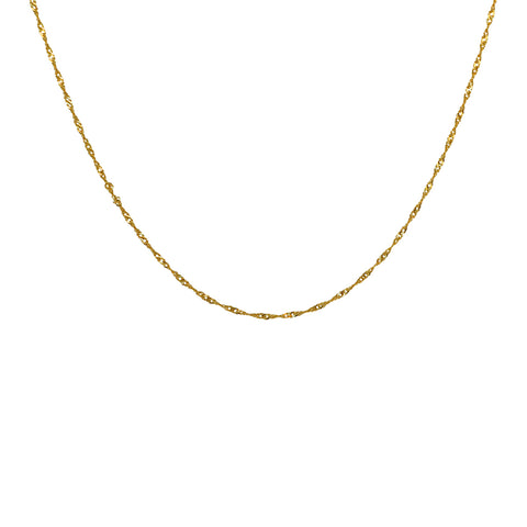 PLAIN GOLD FILLED CHAIN 40 CM