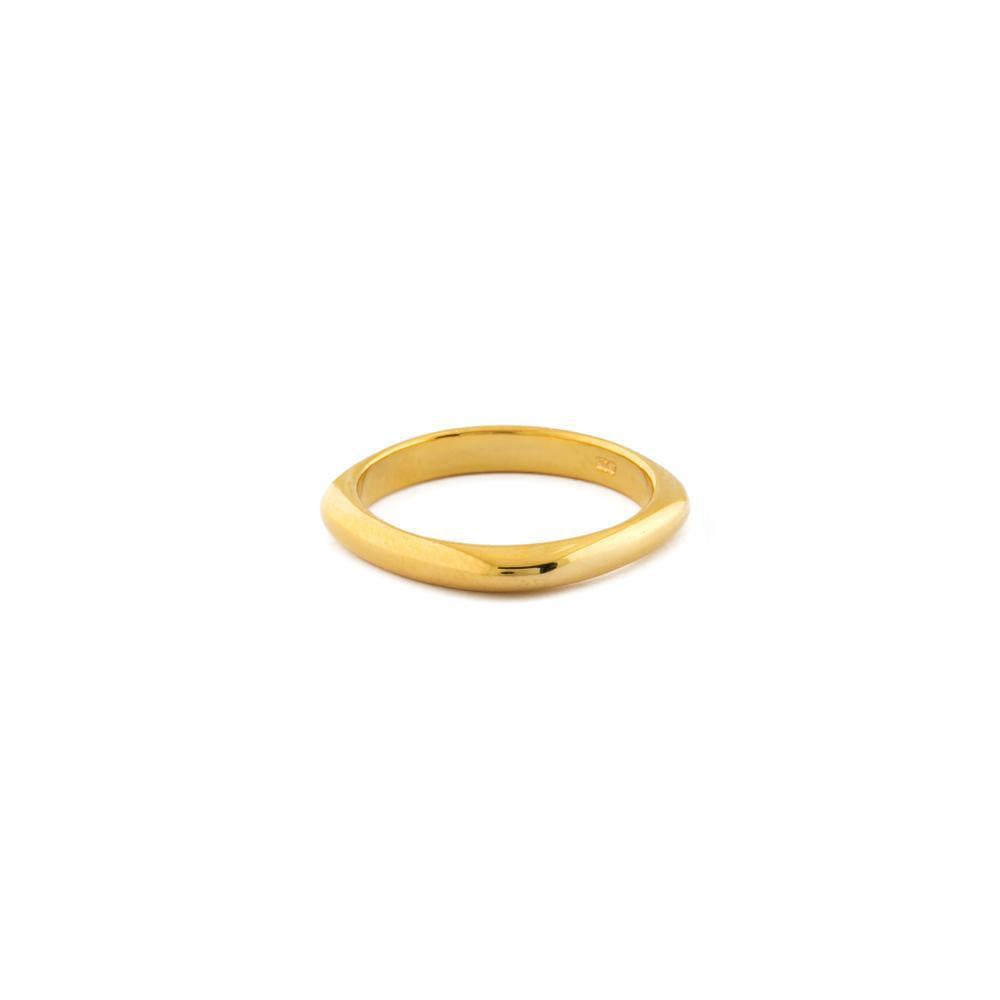 RAE GOLD SQAURE RING-Rings-MEZI