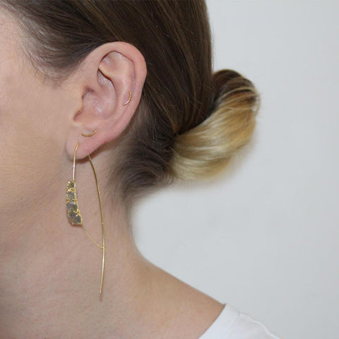 REAGAN LABRADORITE GOLD DROP EARRINGS