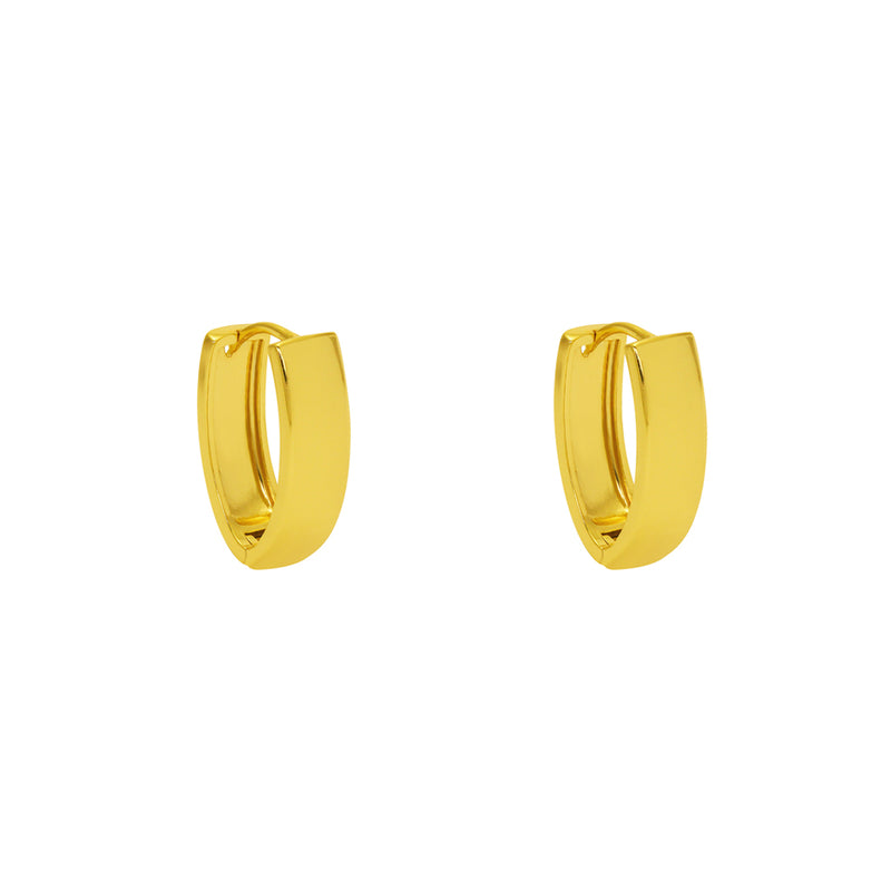REAPI RECTANGULAR THICK LARGE EARRINGS