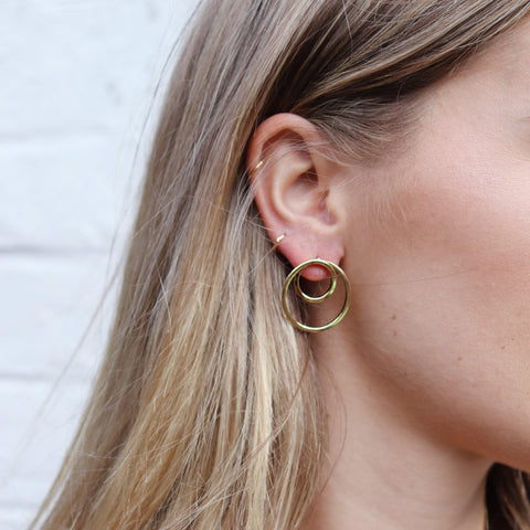 REESE DOUBLE CIRCLE EARRINGS