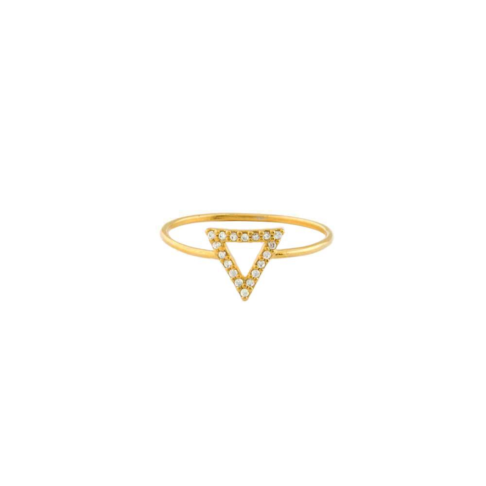 REMY TRIANGLE GOLD CRYSTAL RING