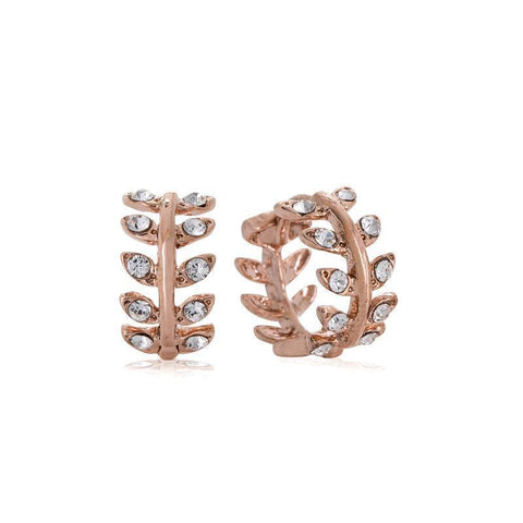 RIA SMALL ROSE GOLD CRYSTAL HUGGIES-Huggies-MEZI