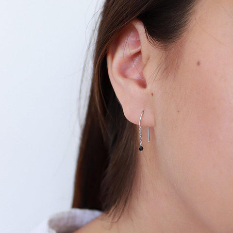 RIGEL SILVER HOOK EARRINGS