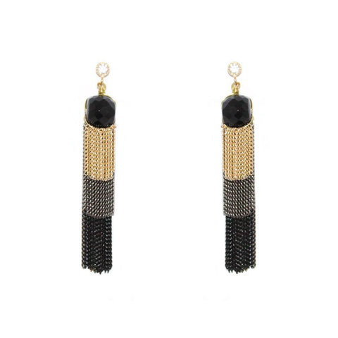 RINA TASSEL EARRINGS-Earrings-MEZI