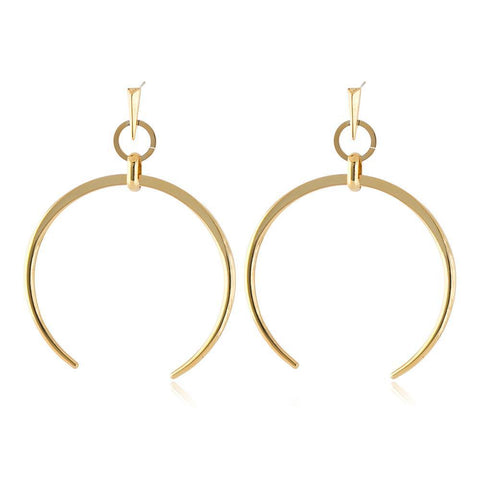 RORI GOLD HORSESHOE EARRING-Earrings-MEZI