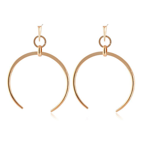 RORI ROSE GOLD HORSESHOE EARRING-Earrings-MEZI