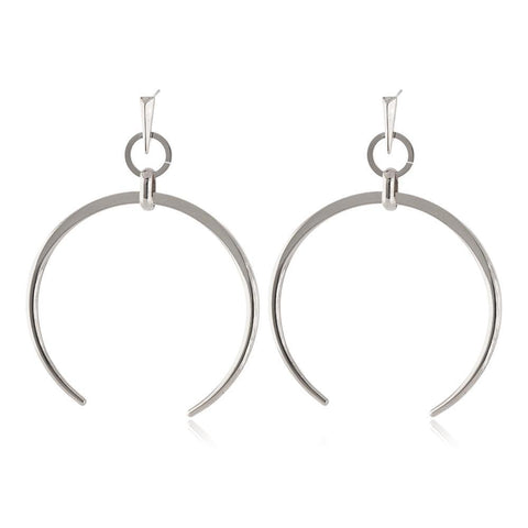 RORI SILVER HORSESHOE EARRING-Earrings-MEZI