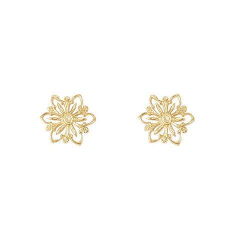 ROSIE FILIGREE 2MICRON GOLD PLATED STUDS