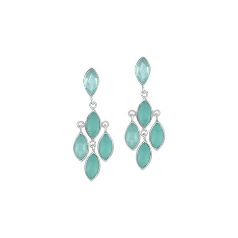 ROZ CHALCEDONY STERLING SILVER SEMI PRECIOUS EARRINGS