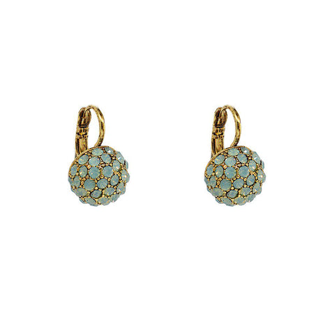 RUPA MINT CRYSTAL BALL EARRINGS