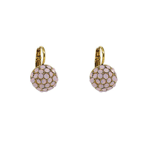 RUPA PINK CRYSTAL BALL EARRINGS