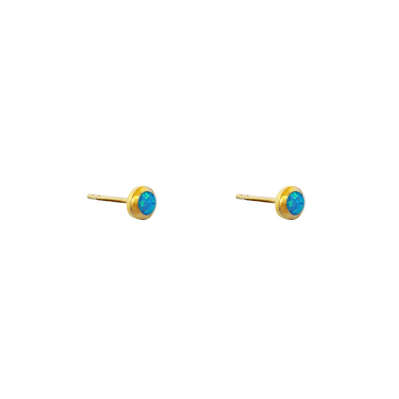 RUTHIE NATURAL OPAL GOLD FILLED STUDS
