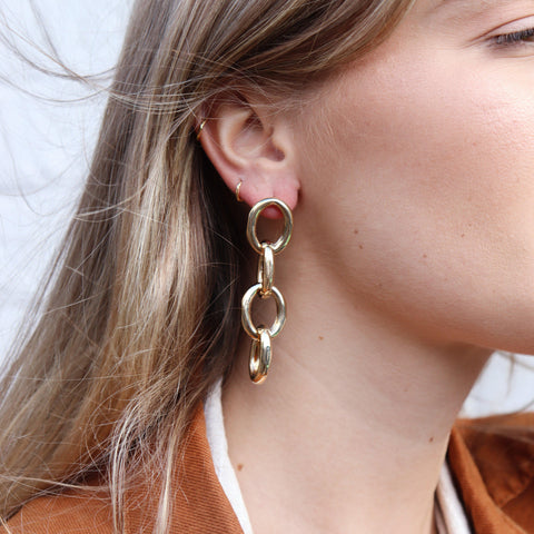 SADIE GOLD CHAIN FASHION EARRINGS
