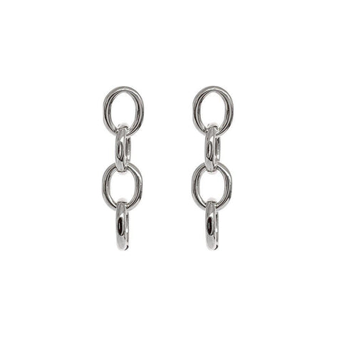 SADIE SILVER CHAIN FASHION EARRINGS