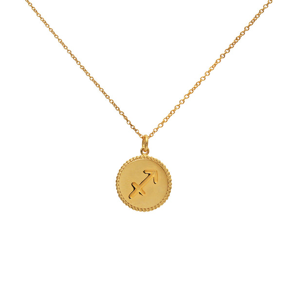 sagittarius star sign gold necklace