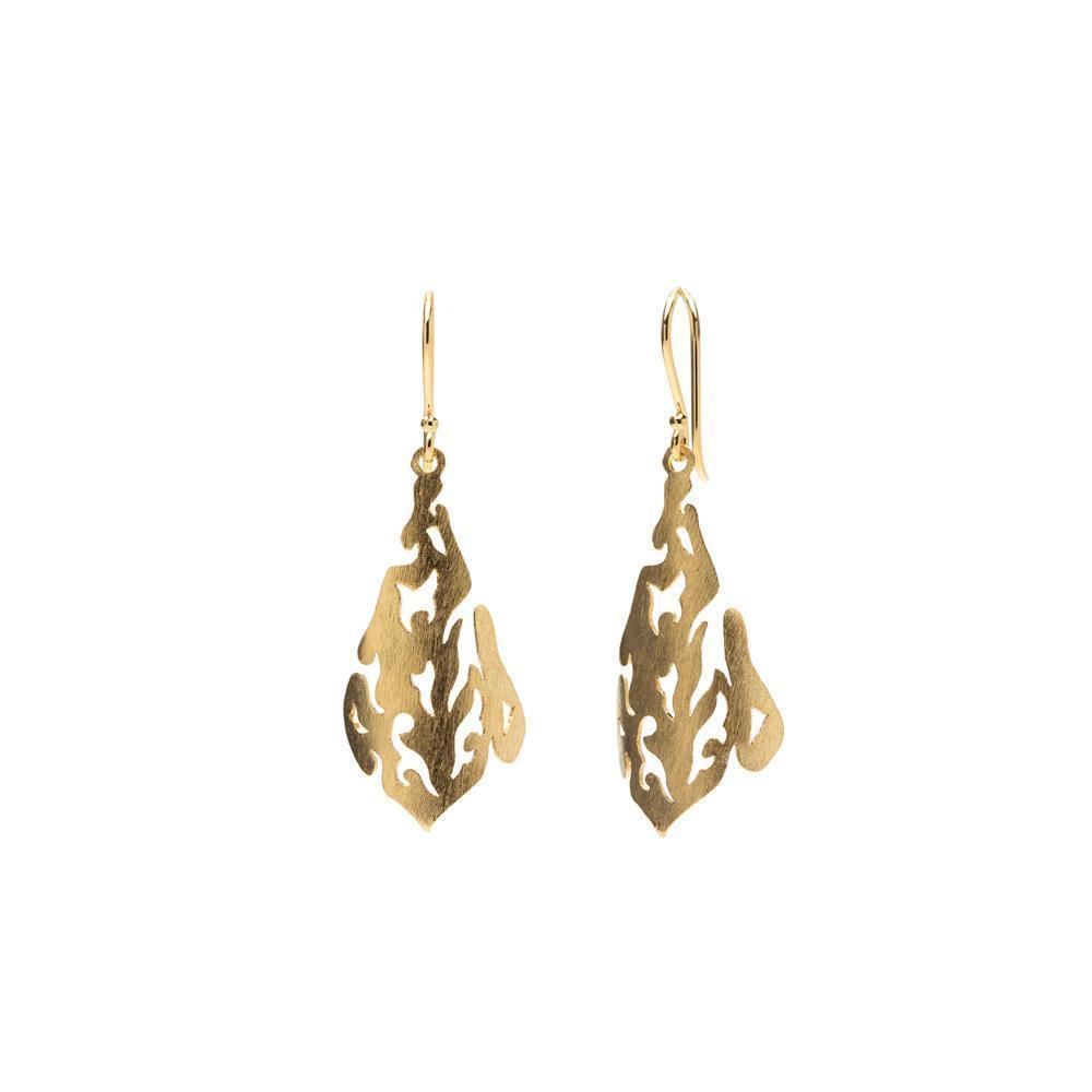SAL GOLD FILIGREE DROP EARRINGS