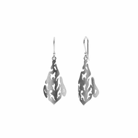 SAL SILVER FILIGREE DROP EARRINGS-Earrings-MEZI