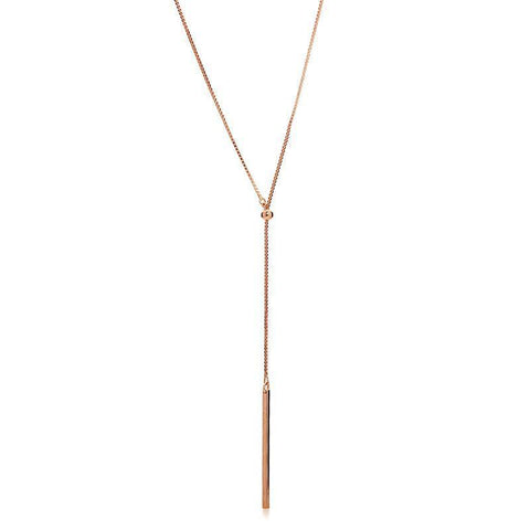 SAM ROSE GOLD LARIET NECKLACE-Necklaces-MEZI