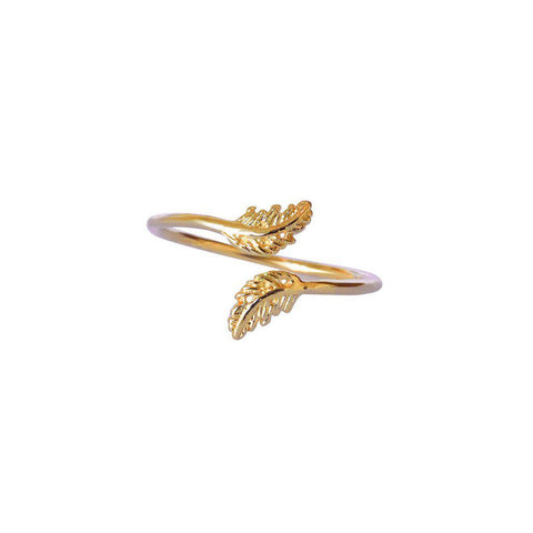 SAMI LEAF GOLD FILLED RING