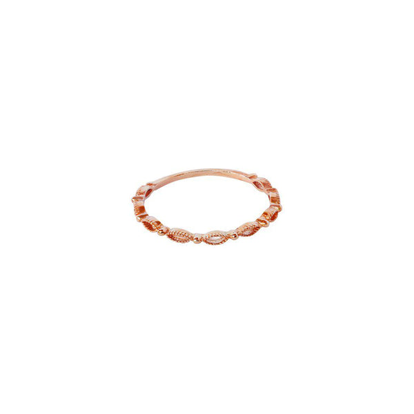 SARIA 2 MICRON ROSE GOLD PLATED RING