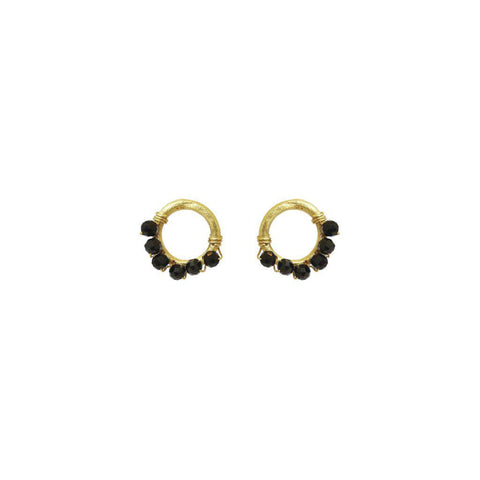 SHANDA ONYX DROP EARRINGS
