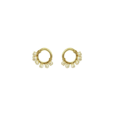SHANDA FRESHWATER PEARL DROP EARRINGS