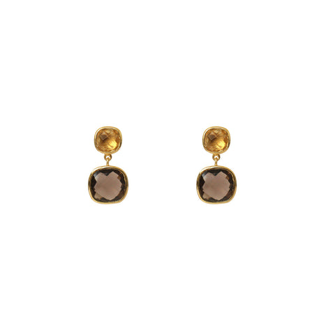 SHARIA DROP EARRING 2 MICRON GOLD SEMI PRECIOUS