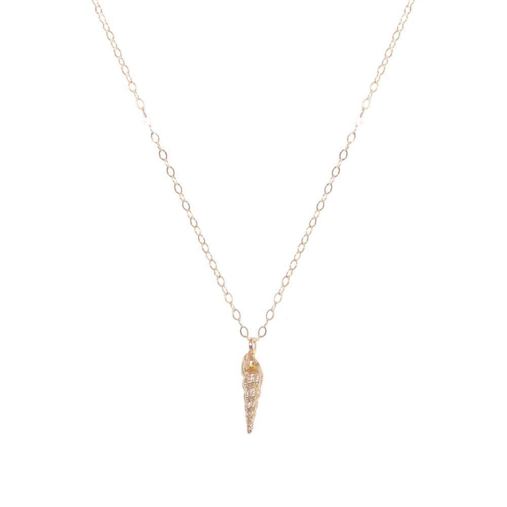 SHELL LARGE GOLD FILLED PENDANT