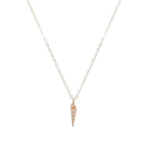 SHELL LARGE GOLD FILLED PENDANT-Necklaces-MEZI