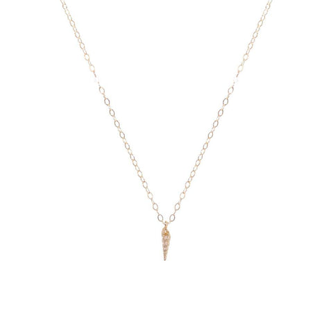 SHELL SMALL GOLD FILLED PENDANT-Necklaces-MEZI