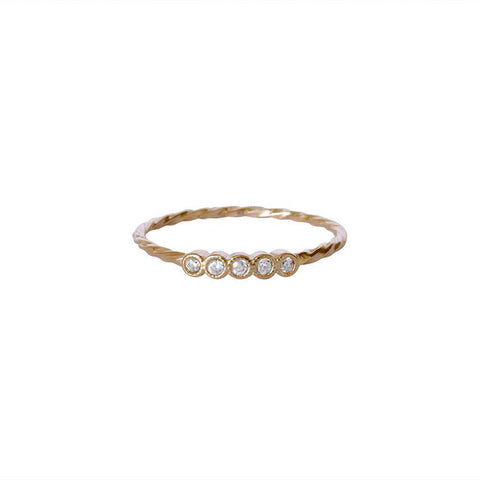 SHIRA CRYSTALS GOLD FILLED RING