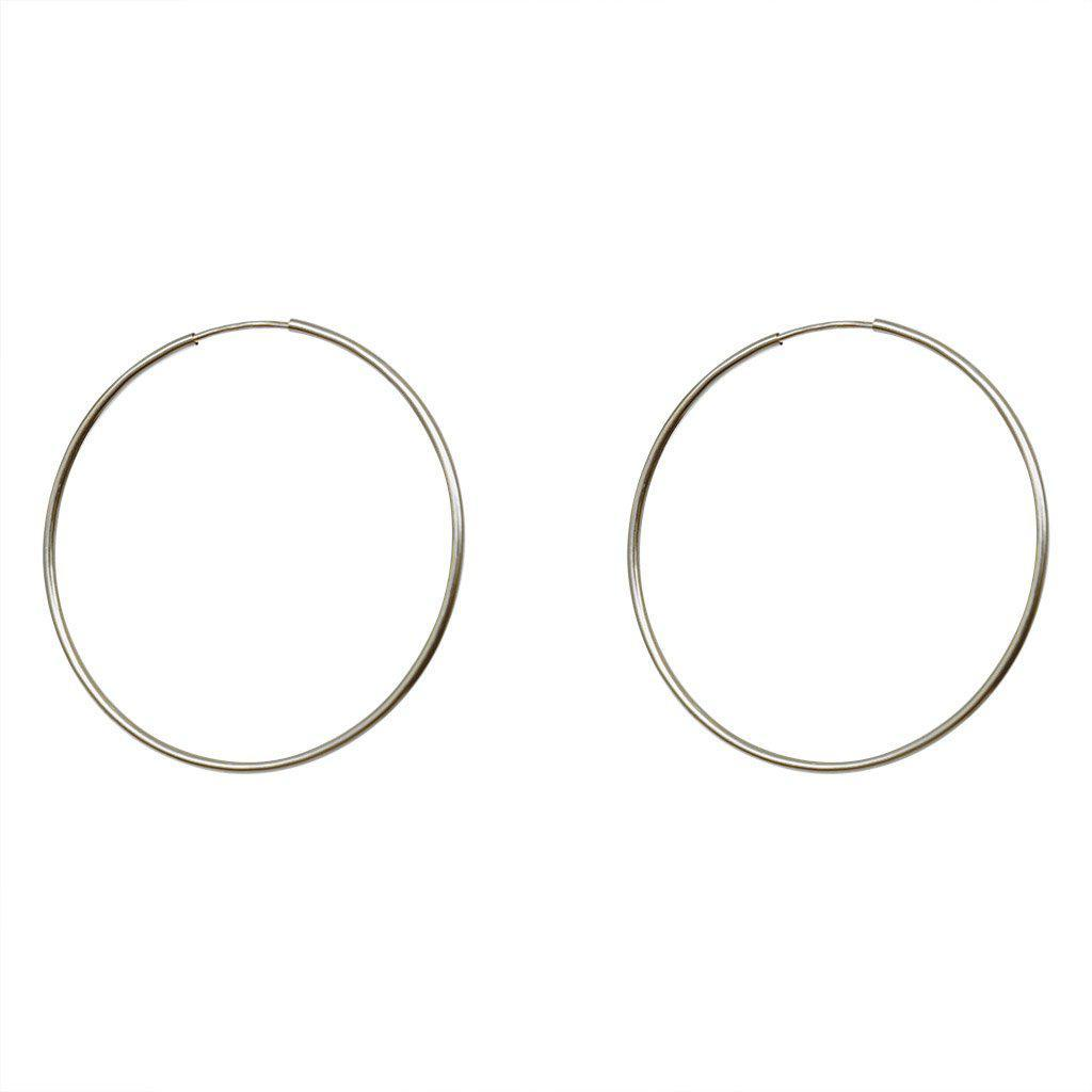 SILVER HOOP EARRINGS 30mm