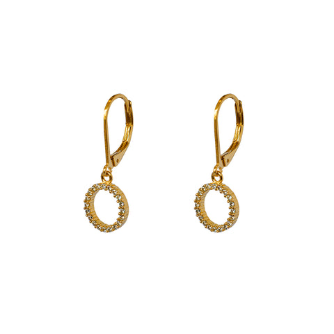SIYA CIRCLE HOLLOW GOLD FILLED EARRINGS