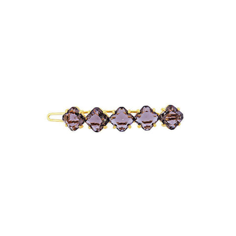 MAHI SMOKEY BROWN CRYSTALS HAIR CLIP