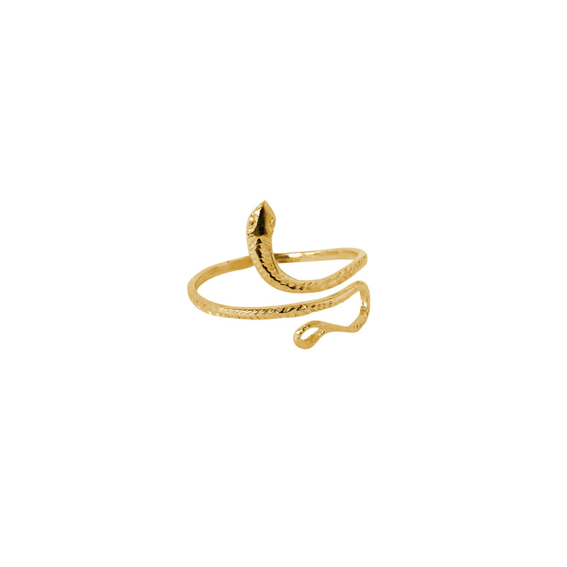 SNAKE GOLD FILLED RING