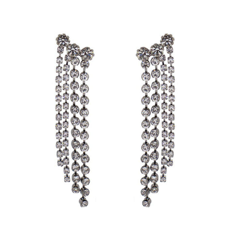 SORINO CLEAR CRYSTAL TASSEL EARRINGS