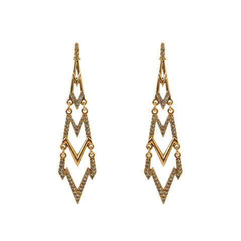 SOSI ANTIQUE CRYSTAL DROP EARRINGS
