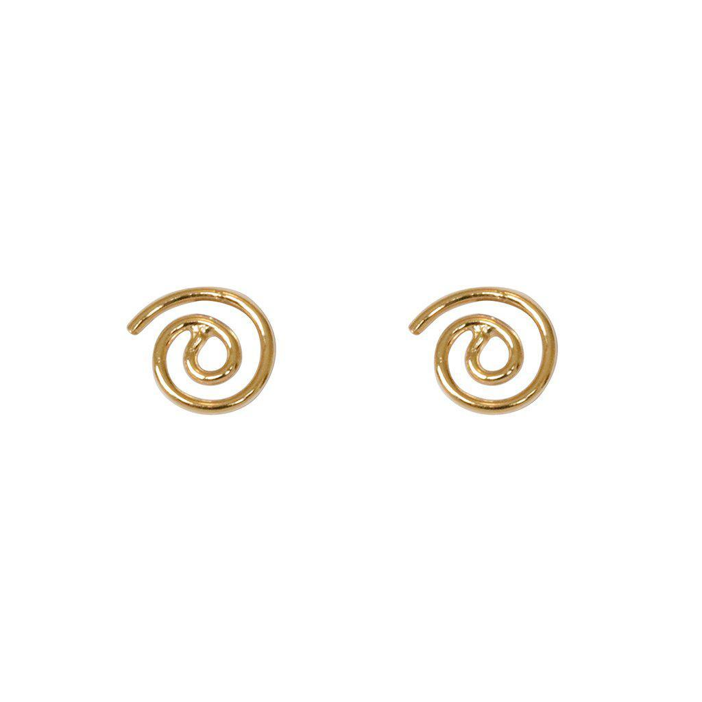 SPIRAL 2MICRON GOLD PLATED STUDS