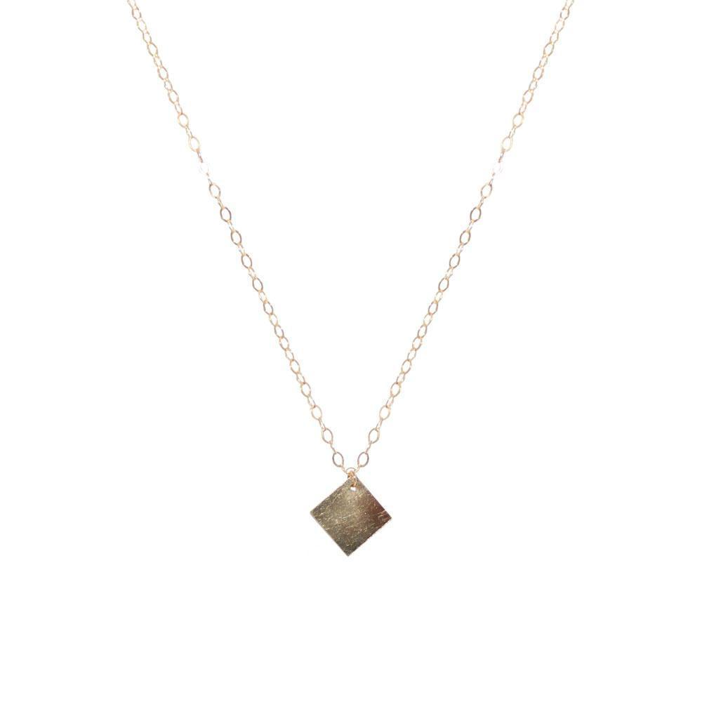 SQUARE GOLD FILLED PENDANT-Necklaces-MEZI