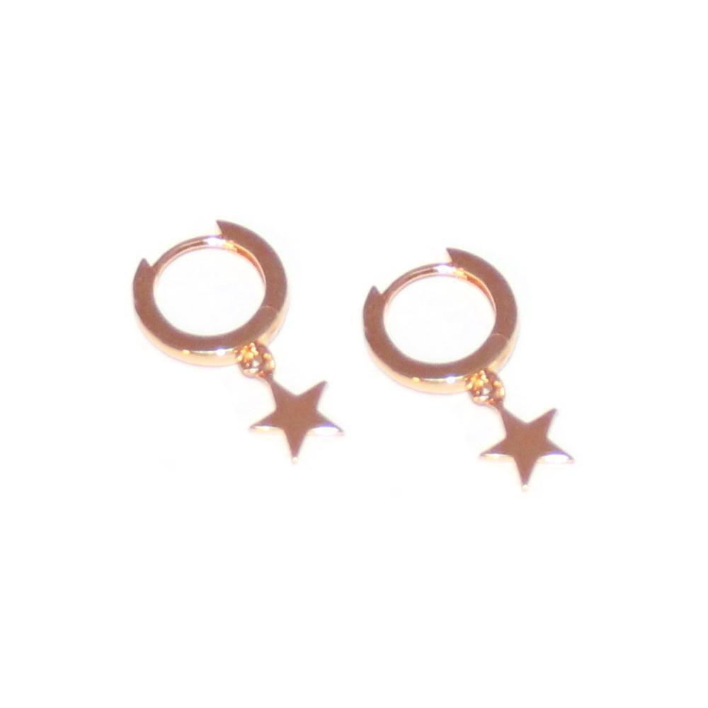 STAR CHARM ROSE GOLD EAR HUGGIES