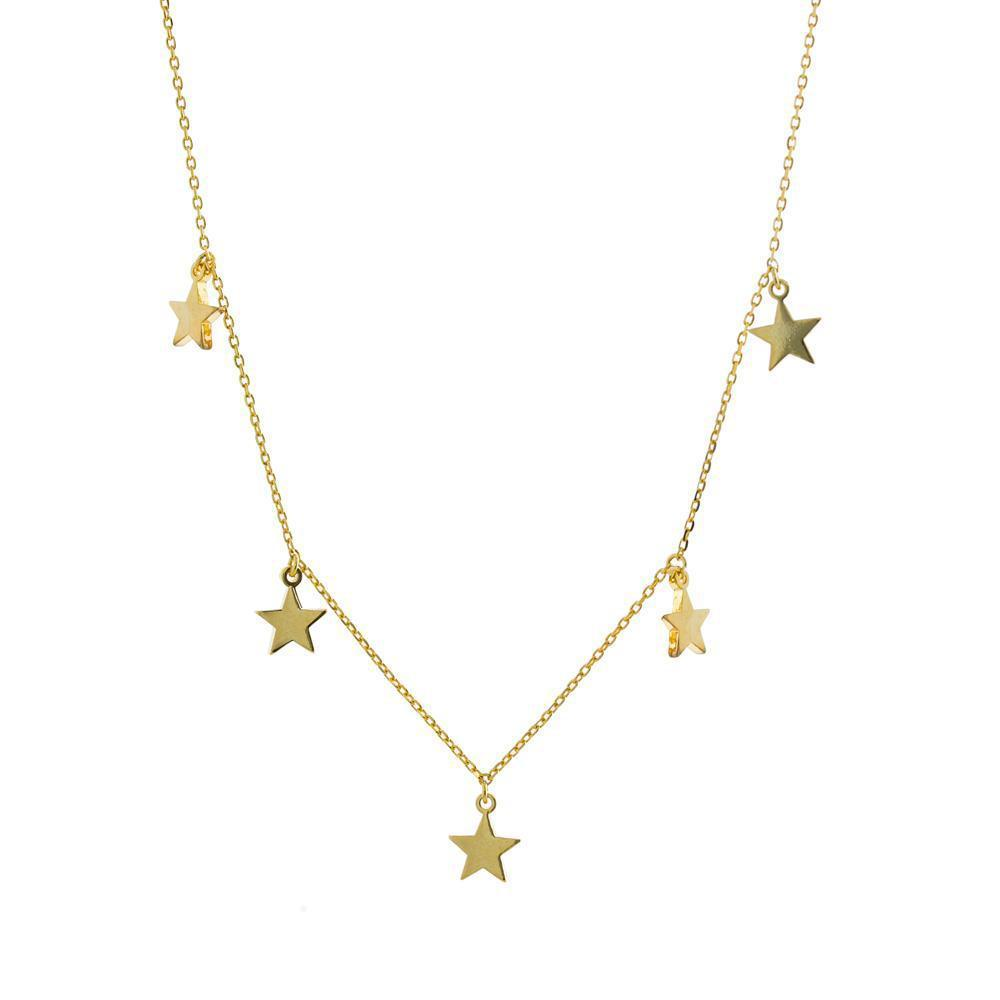 STAR GOLD PLAIN NECKLACE