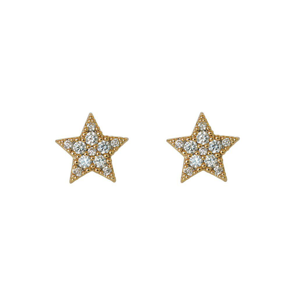 STAR GOLD CRYSTAL STUDS