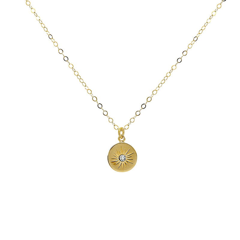 star crystal disc necklace